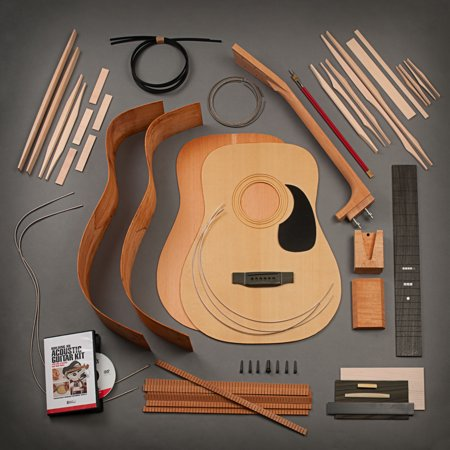 stewmac build your own dreadnought acoustic guitar kit bolt on neck torrefied top mahogany. Black Bedroom Furniture Sets. Home Design Ideas