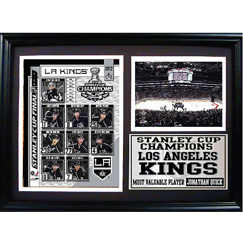 NHL Los Angeles Kings Champions Photo Stat Frame, 12x18