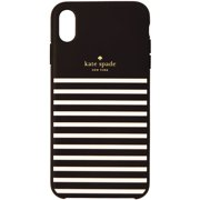 Kate Spade Soft Touch Case for Apple iPhone XS Max - Feeder Stripe Black/Cream (Refurbished)