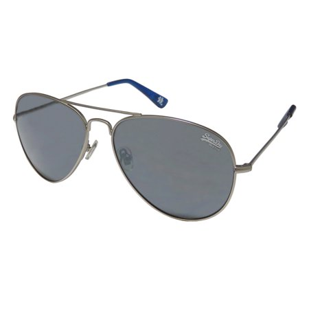 New Superdry Sds Huntsman Mens/Womens Aviator Full-Rim 100% UVA & UVB Matte Gray Aviator Spectacular Modern Shades Sunnies Frame Slightly Mirrored Gray Lenses 58-15-143 Sunglasses/Sun (Cheap Superdry Sunglasses)