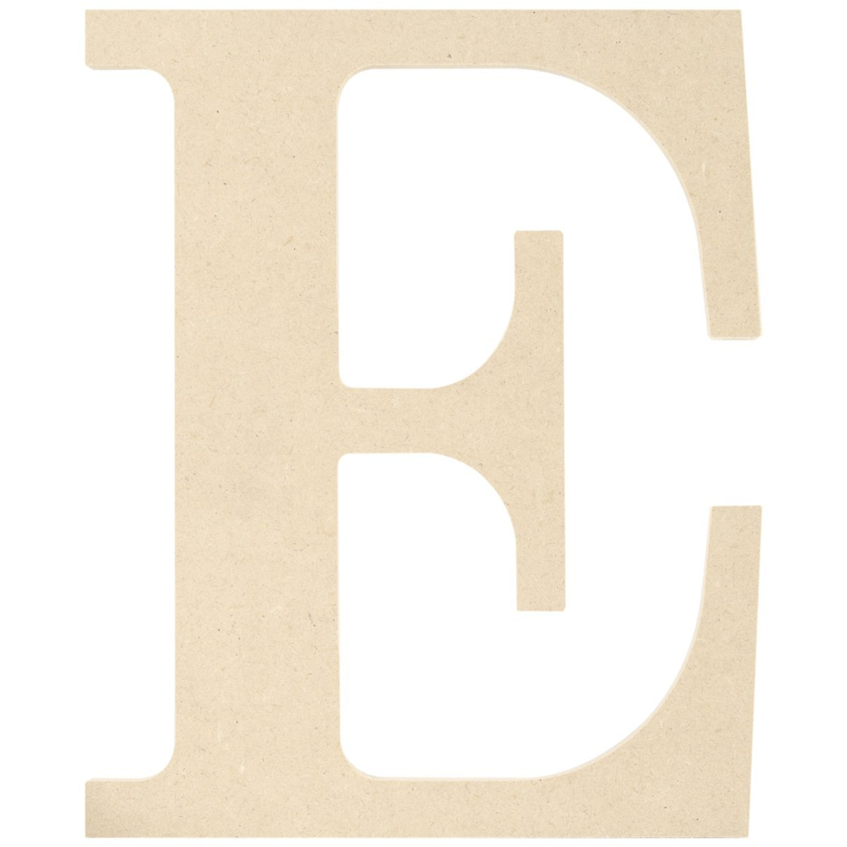 MDF Classic Font Wood Letters and Numbers, 9.5 Inch, Letter E, Mdf