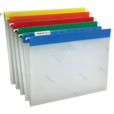 Hot Pocket Poly Hanging - Pendaflex, PFX55708, EasyView Poly Hanging Folders, 25 / Box, Blue,Yellow,Red,Orange,Green