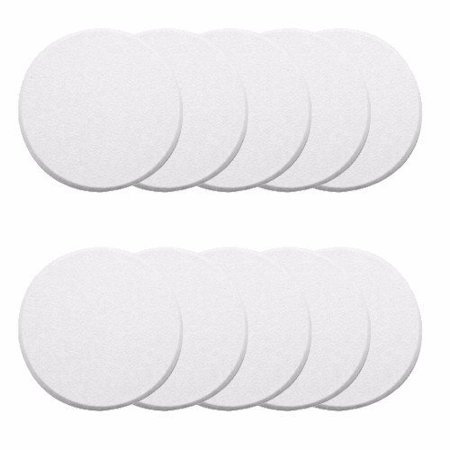 Iron Door Knob - Wideskall® 10 Pcs White Round Door Knob Wall Shield Self Adhesive Protector