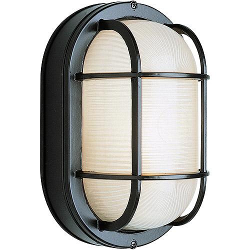 "BelAire Oval Bulkhead 9"" Outdoor Light, Black"