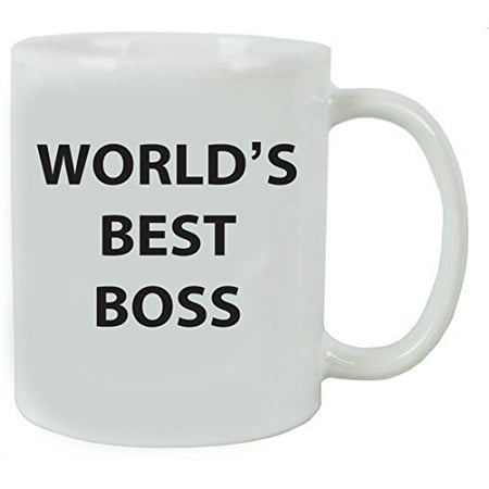 worlds best boss 11 oz white ceramic coffee mug with gift box great gift for