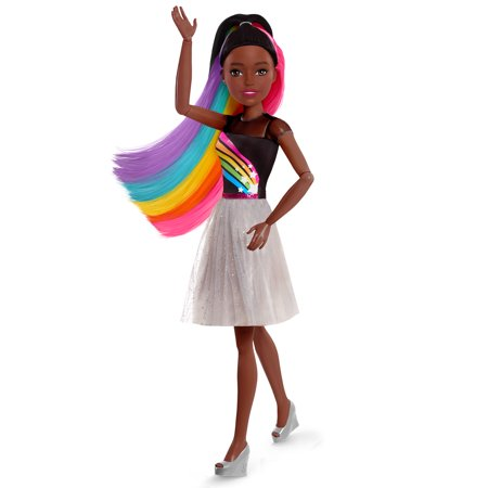 "Barbie 28"" Rainbow Sparkle Best Fashion Friend Doll –"