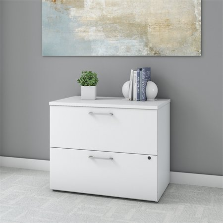 Bush Business 400 Series 36W 2 Drawer Lateral File Cabinet in White - image 3 de 6