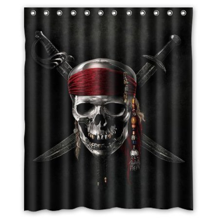 DEYOU Jessica Kitty Yestore Superior Pirate Shower Curtain Polyester Fabric Bathroom Size 36x72 Inches