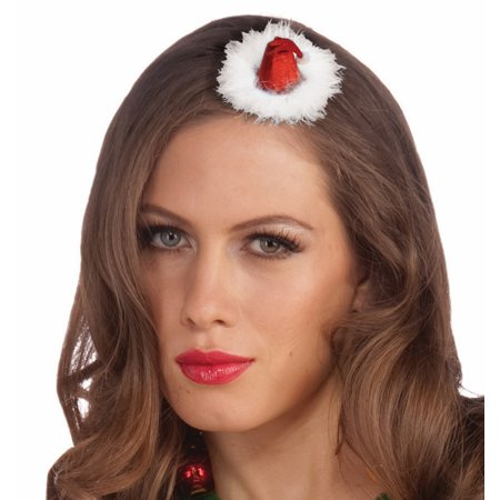 Mini Santa Hat Women's Costume Accessory