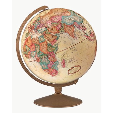 Replogle Globes Franklin Globe, Antique Ocean, 12-Inch Diameter Spherical Antique Globe