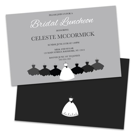 Personalized Wedding Dresses Bridal Luncheon Invitations