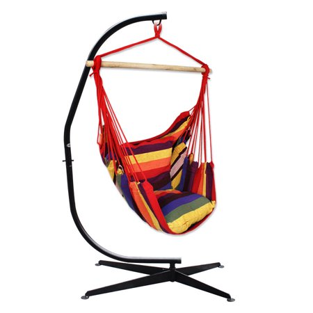 Zeny Hammock Chair With C Frame Stand Combo Hanging Rope Air Outdoor