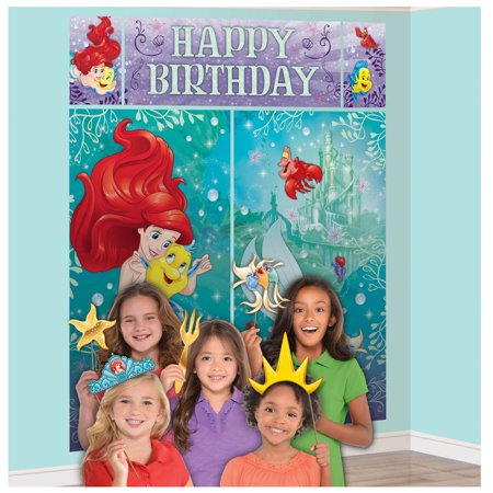 Disney Scene Setter (Little Mermaid Ariel Scene Setter with Photo Booth)