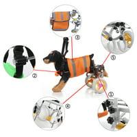 Dog Wheelchair Lightweight Hind Legs Rehabilitation Dog Walking Assisted Adjustable Wheelchair