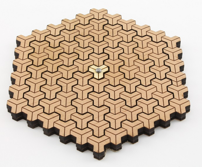 Escher Cubes Wooden Puzzle Brain Teaser by