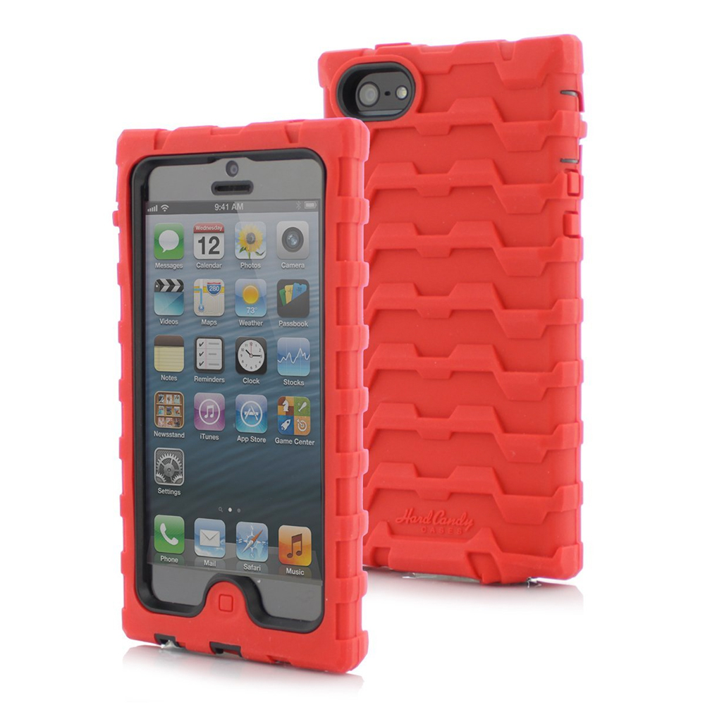 Hard Candy SD5REDBLK SD5-RED-BLK Shock Drop iPhone 5 Case...