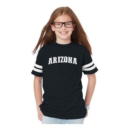 - Arizona State Flag Youth Football Fine Jersey Tee