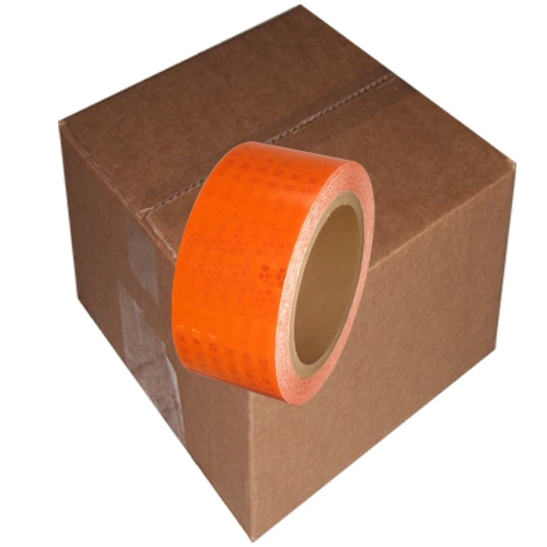 2 inch x 30 ft Orange Super Bright High Intensity Reflective Tape 12 Roll Case