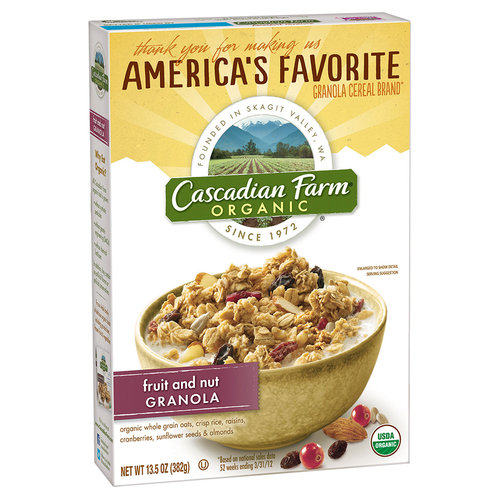 Cascadian Farm Organic Fruit And Nut Organic Granola, 13.5 oz