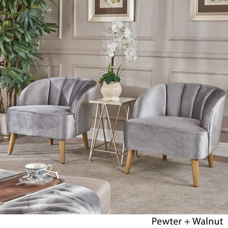 Christopher Knight Home Amaia Modern Velvet Club Chair (Set of 2) (Club Chair Seat)