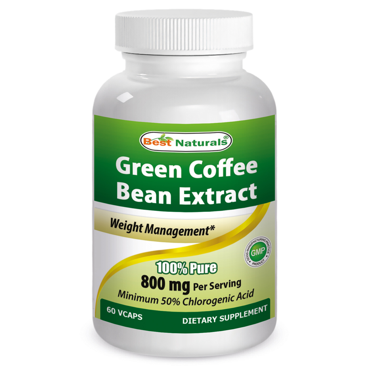 Best Naturals Green Coffee Bean Extract 800mg 60 Vcaps