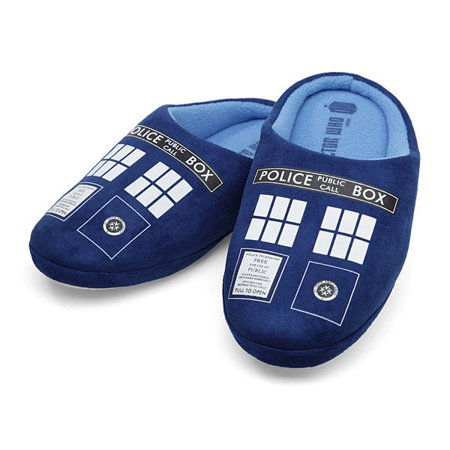 Doctor Who Tardis Womens Slippers   M