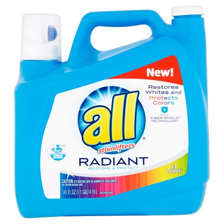 All With Stainlifters Radiant Restore   Protect Liquid Laundry Detergent  73 Loads  141 Fl Oz