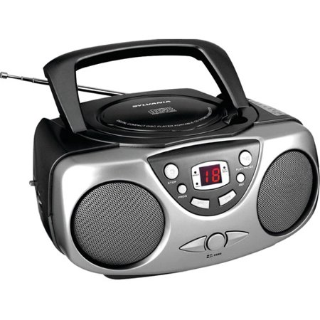 Sylvania SRCD243M Portable CD Boom Box with AM/FM Radio, (Best Cd Radio Boombox)