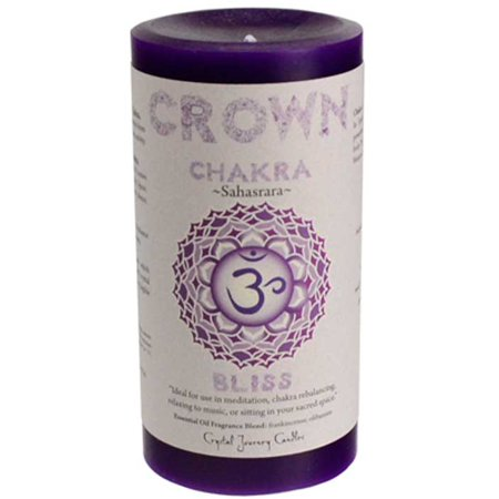 Crown Chakra Pillar Candle Removable Paper Label Contains Detailed Information About The Chakra On The (Crown Pillar)