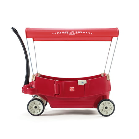 Step2 All Around Canopy Wagon Red Kids Wagon with Canopy