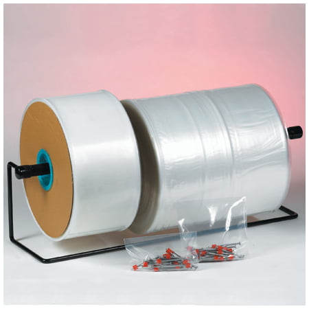 PT0204 2 Inch x 1075 Inch 4 Mil Poly Clear Tubing custom fit poly bag heat seal both ends. 1 ROLL (Clear Poly Tubing)