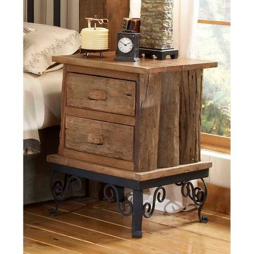 Groovystuff Hill Country Side Table with Drawers - Honey