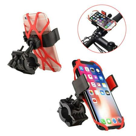 Bike Mount Bicycle Phone Holder Universal Cradle Clamp for iPhone X 8 7 6 5 Plus Galaxy S9 S8 S8+ S7 S6 S5 S4 Edge Nexus LG Moto Smartphone GPS 360 Degrees Rotatable Rubber