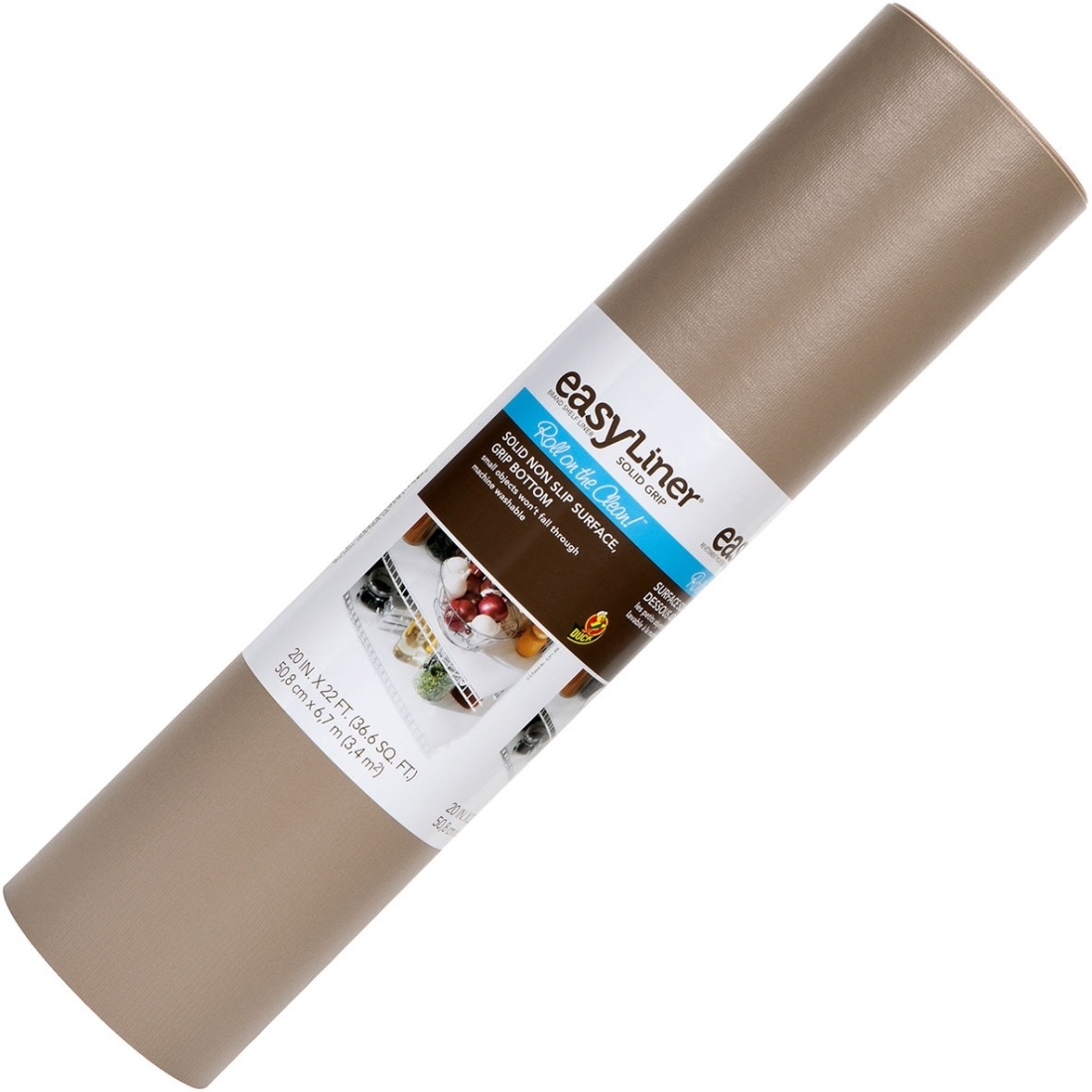 "Duck Brand Solid 20""x 22 Ft. Shelf Liner- Taupe - 22 Ft X 20"" - Taupe (281878)"