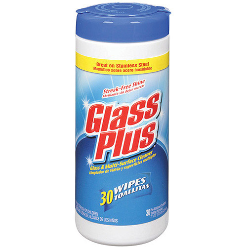 Glass Plus Glass & Multi-Surface Wipes, 30ct