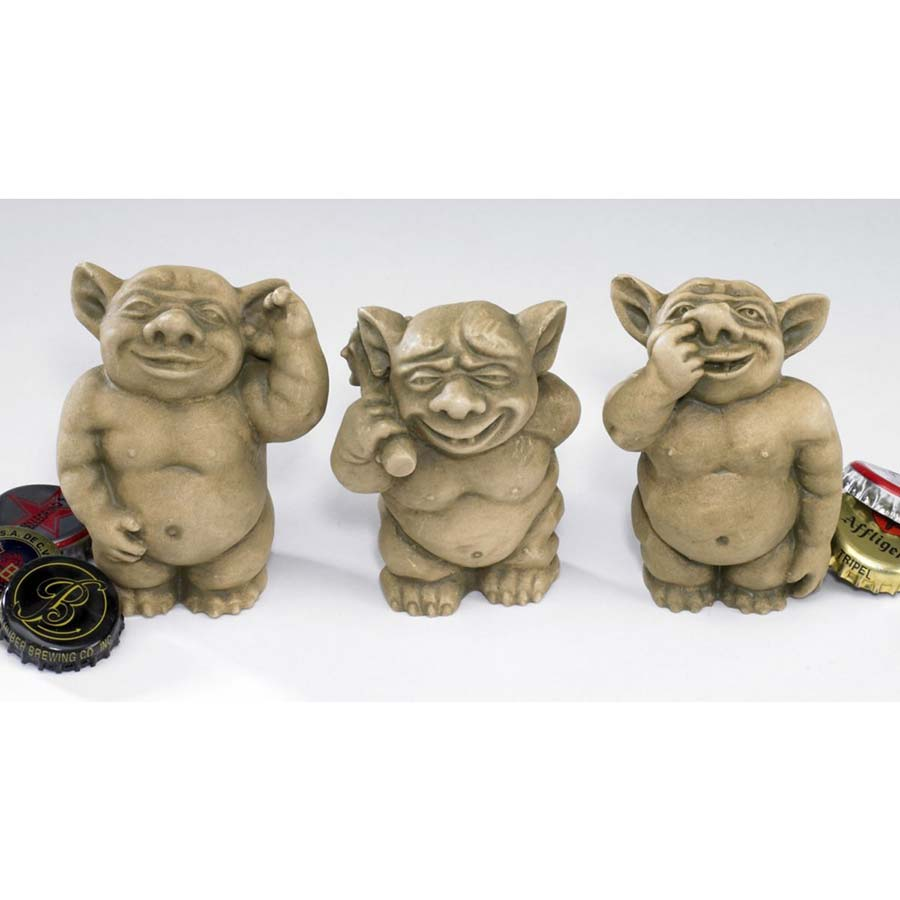 The Picc-a-Dilly Gargoyle Sculptures - Small (Set Includes: Small Bum, Ear & Nose)