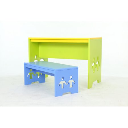 Fine Happy Child Furniture Friends Kids 2 Piece Rectangular Table Creativecarmelina Interior Chair Design Creativecarmelinacom