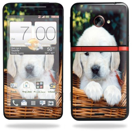 Ihx Mobile (Mightyskins Protective Vinyl Skin Decal Cover for HTC Evo 4G LTE Sprint Cell Phone wrap sticker skins Puppy )