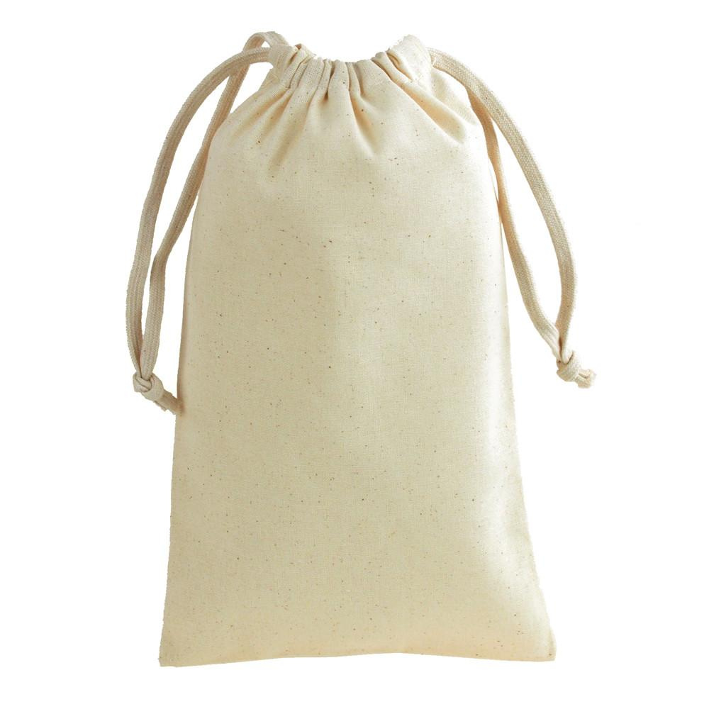Cotton Favor Bags with Drawstrings, 12-Piece, 5-3/4-Inch x 9-3/4-Inch