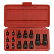 SAE Impact Hex Socket Set with Storage Case, 14 Piece, Industrial Grade | Cr-Mo Steel