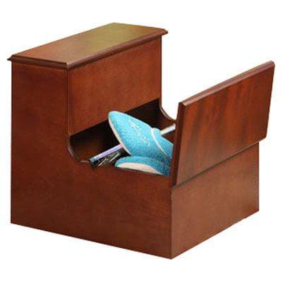 storage 2 step step stool finish chestnut. Black Bedroom Furniture Sets. Home Design Ideas