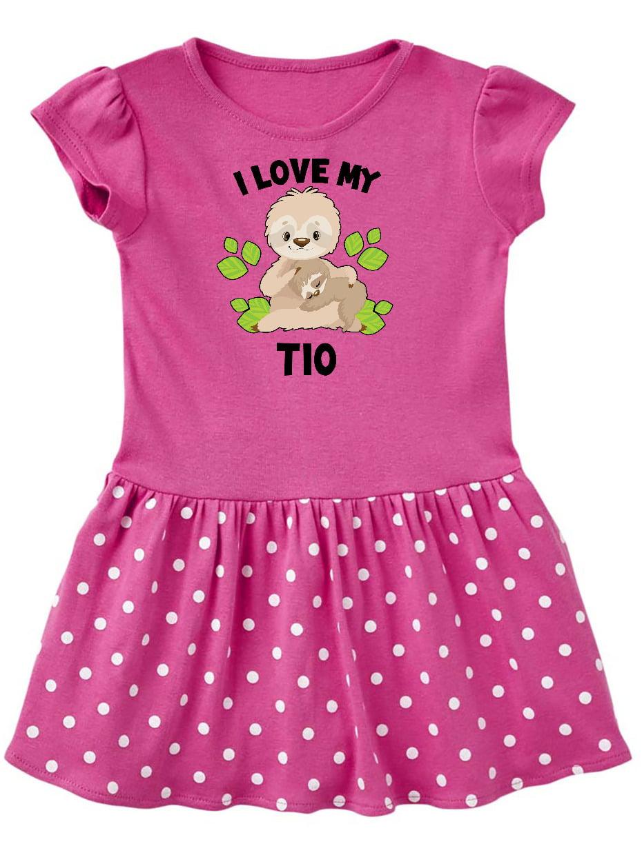 I Live to Hug Sloth Baby Flounces Skirts Toddler Lovely T Shirt Dress Soft Costume