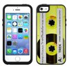 Skin Decal for OtterBox Symmetry Apple iPhone SE Case - Retro Clear Cassette Tape Yellow OtterBox Symmetry Apple iPhone SE Skin Decal Retro Clear Cassette Tape Yellow
