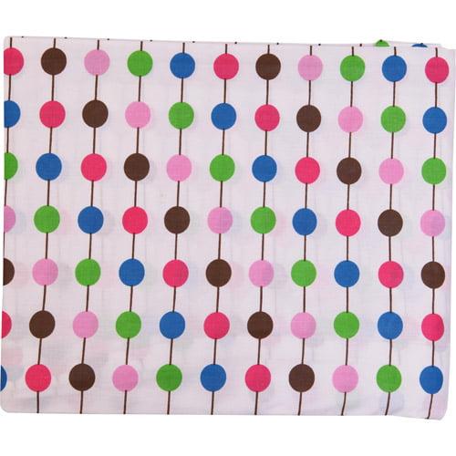 Bacati - Botanical Pearl String Fitted Crib Sheet, Pink