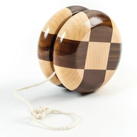 Checkered Wooden Yo Yo -