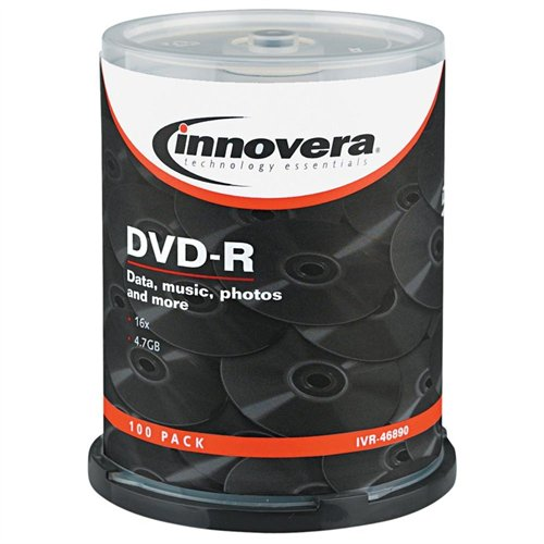Innovera 46890 Dvd Recordable Media - Dvd-r - 16x - 4.70 Gb - 100 Pack Spindle - 120mm2 Hour Maximum Recording Time