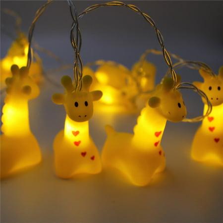 Mini Cartoon Animal LED String Light, Battery Operated, 4.9FT Decorative Fairy Lights