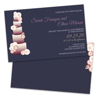 Personalized Towering Cake Wedding Invitations