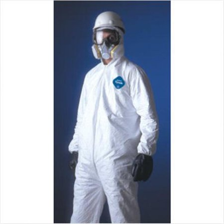 DuPont 251-TY125S-L Dupont Tyvek Coverall Zip Ft Elas Wrist & -