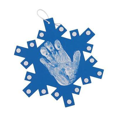 IN-13752768 Snowflake Handprint Ornament Craft Kit (Easy Halloween Handprint Crafts)